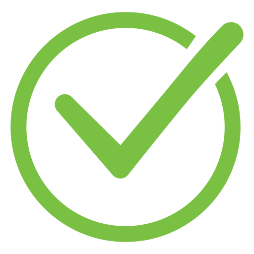 Ícone do círculo de marca de seleção Transparent PNG