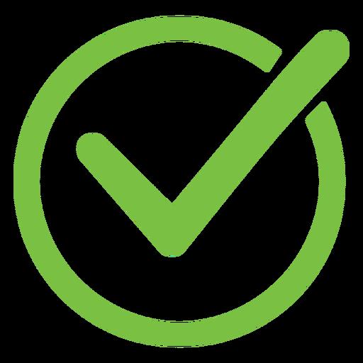 Icono de círculo de marca de verificación Transparent PNG