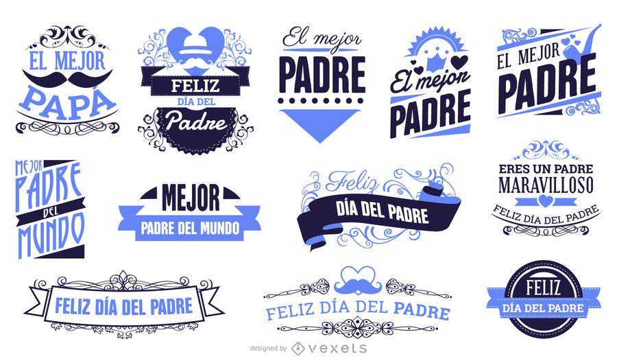 Emblemas do dia dos pais espanhóis