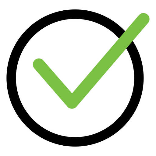 Check mark tick icon Transparent PNG