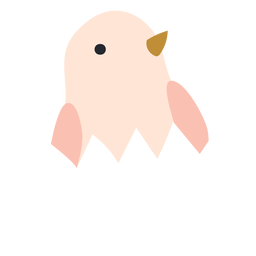 Chicken in eggshell icon