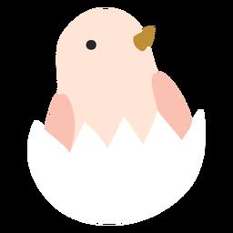 Pollo en icono de cáscara de huevo