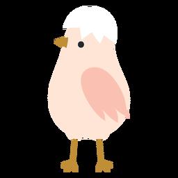 Pollo con icono de cáscara de huevo