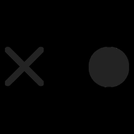Kreise und überqueren Sie Emoticon-Augen Transparent PNG