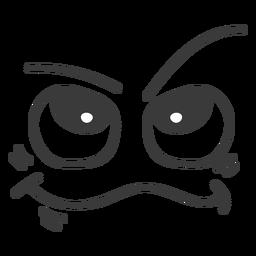 Clever emoticon face cartoon