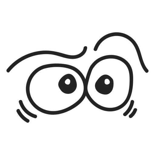 Comic confused emoticon eyes Transparent PNG