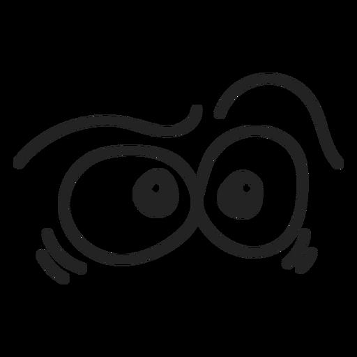Comic confused emoticon eyes