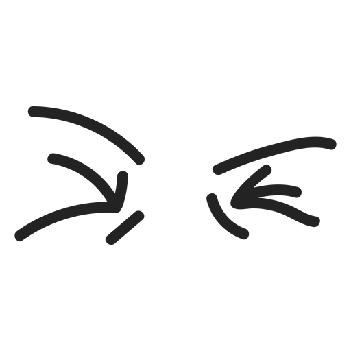 Comic disgusted emoticon eyes Transparent PNG