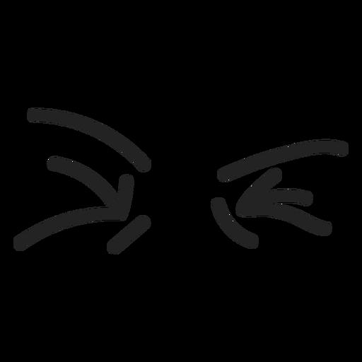 Komische angewiderte Emoticon-Augen Transparent PNG