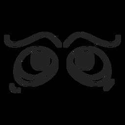 Komische Emoticon-Augen