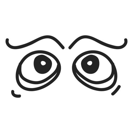Comic emoticon eyes Transparent PNG