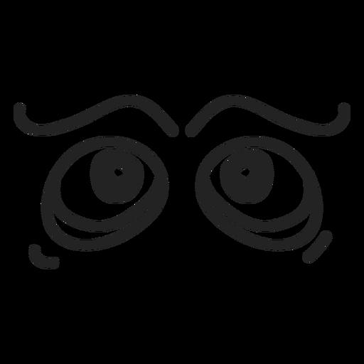 Komische Emoticon-Augen Transparent PNG