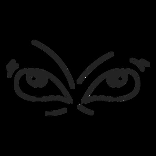 Comic Neid Emoticon Augen Transparent PNG