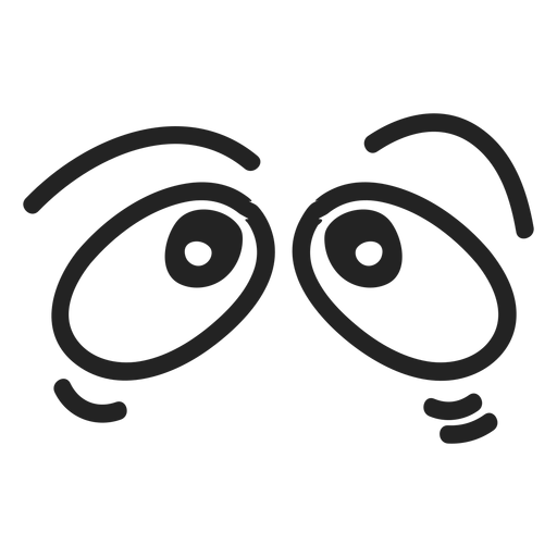 Comic scared emoticon eyes Transparent PNG