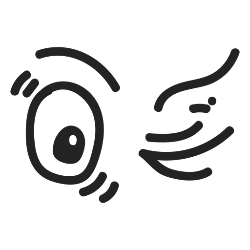 Comic wink emoticon ojos Transparent PNG