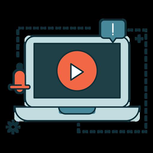 Banner de marketing de computador Transparent PNG