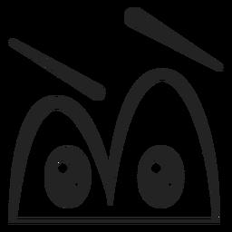 Dibujos animados de ojos de emoticon confundido
