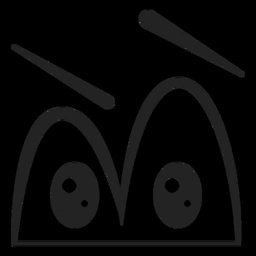 Verwirrter Emoticon mustert Karikatur Transparent PNG