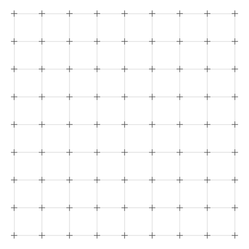Cross grid design