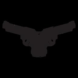 Symbol der gekreuzten Revolver