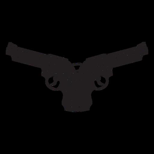 Icono de revólveres cruzados