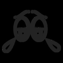 Llorar ojos de emoticon