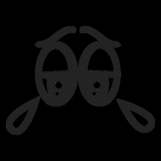 Llorar ojos de emoticon Transparent PNG