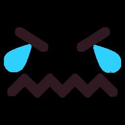 Crying emoticon face flat