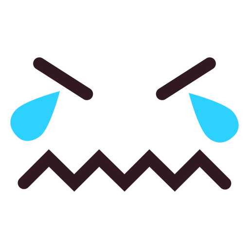 Crying emoticon face flat Transparent PNG