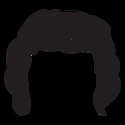 Geschweifte Männer Haar-Symbol