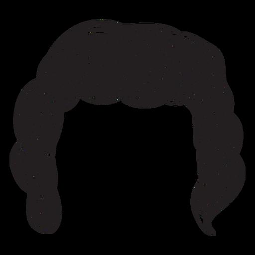 Icono de pelo de hombres rizados Transparent PNG