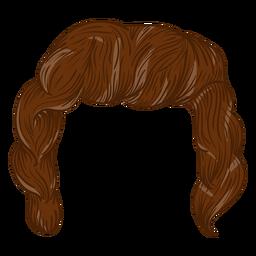 Curly men hair illustration