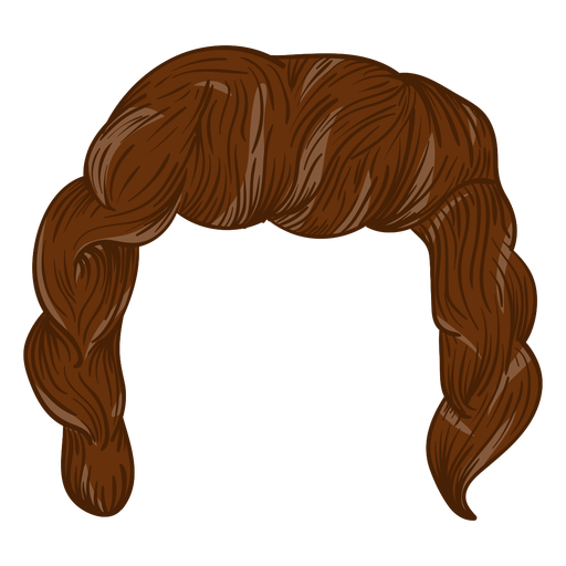 Ilustración de pelo de hombres rizados Transparent PNG