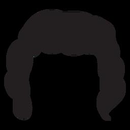 Curly men hair silhouette