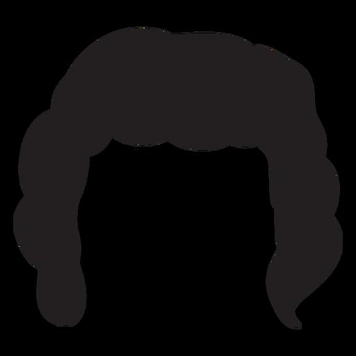 Silueta de pelo de hombres rizados Transparent PNG