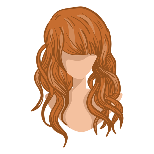 Curly woman hair cartoon Transparent PNG