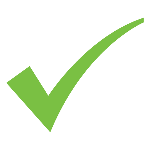 Curved check mark icon