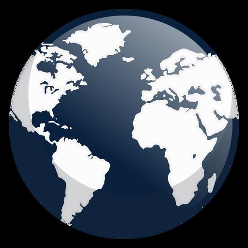 Ícone da terra escura Transparent PNG