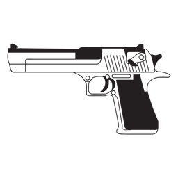 Icono de pistola de águila del desierto