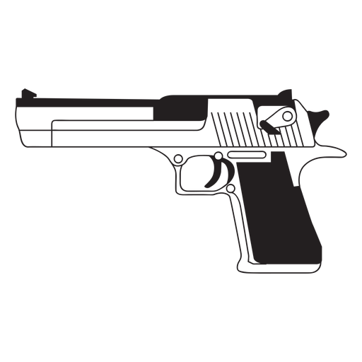 Desert eagle gun icon Transparent PNG