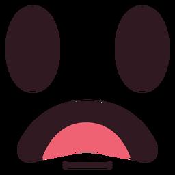 Enttäuschtes Emoticon Gesicht flach