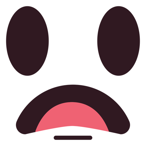 Disappointed emoticon face flat Transparent PNG