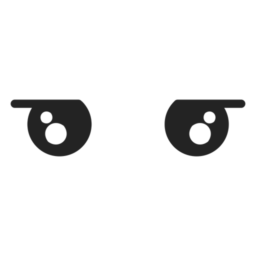 Disappointed kawaii emoticon eyes Transparent PNG