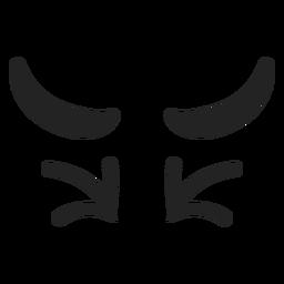 Ojos de emoticonos asqueados