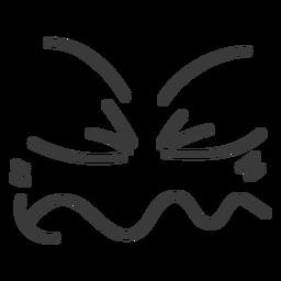 Desenhos animados de cara de emoticon enojado