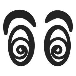 Schwindlige Emoticon-Augen