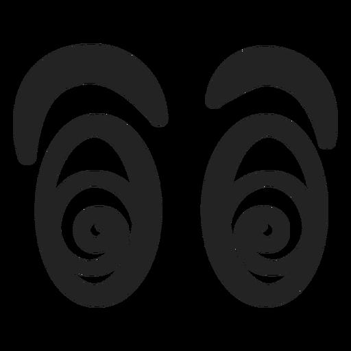 Schwindlige Emoticon-Augen Transparent PNG