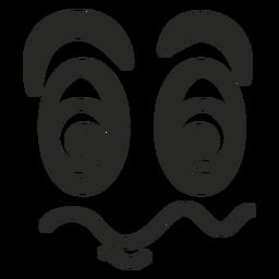 Rosto de emoticon tonto