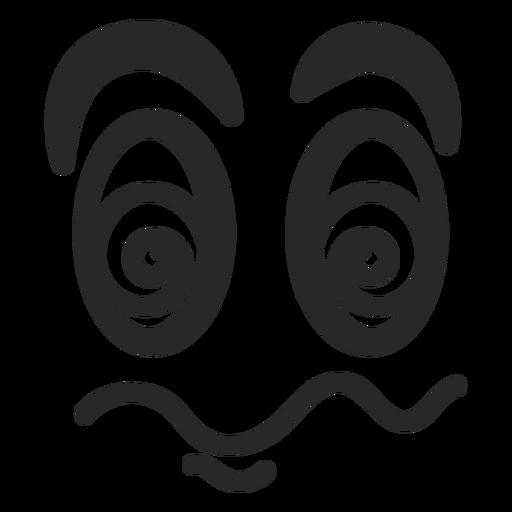 Rosto de emoticon tonto Transparent PNG