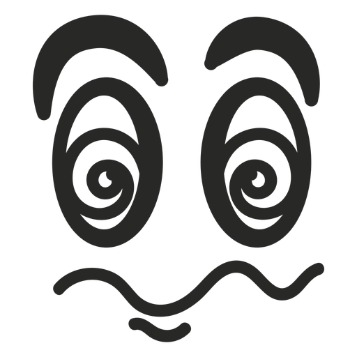 Schwindeliges Emoticongesicht Transparent PNG